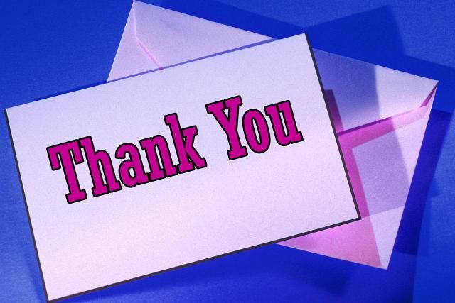 Use These Phrases To Write A Perfect ThankYou Note  Note