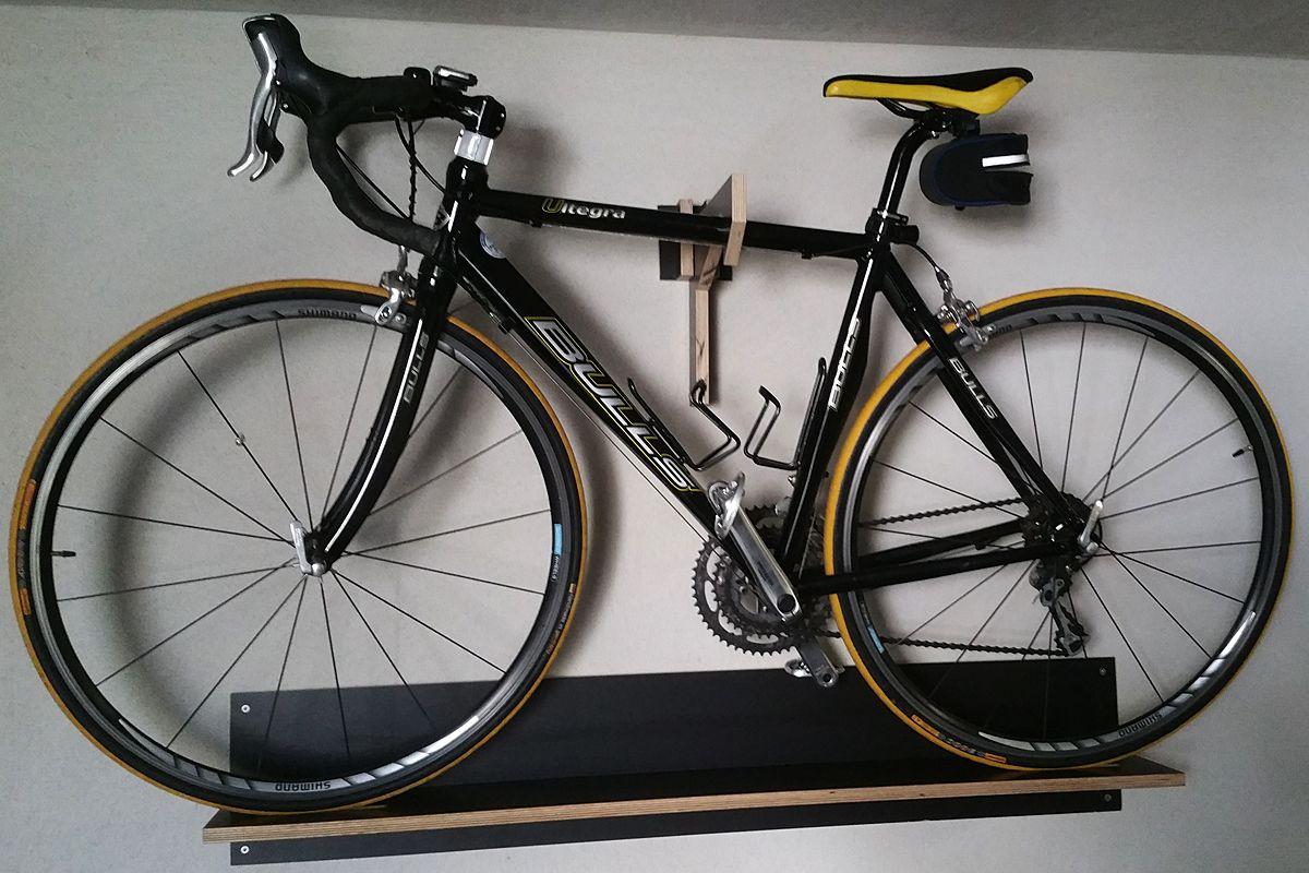fahrrad wandhalterung bauanleitung zum selber bauen einrichtung wohnen pinterest fahrrad. Black Bedroom Furniture Sets. Home Design Ideas