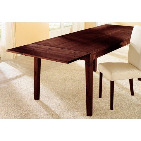 Rallonge pour table en pin massif Home Affaire - Teinté wengé- Vue 1