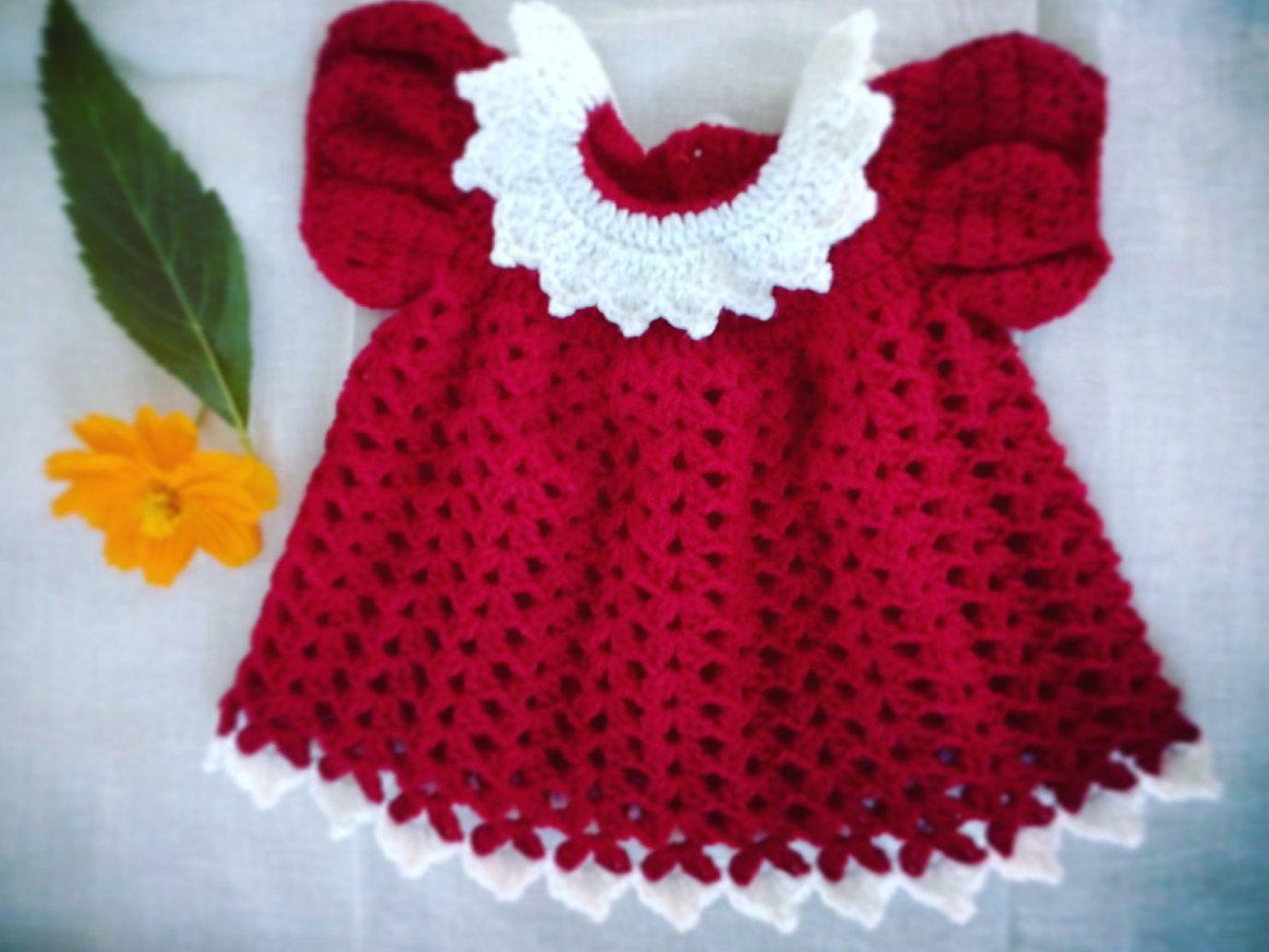 Crochet Baby Frock - Newborn Baby Frock - Babygirl Frock - Crochet ...