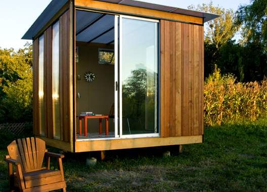 Small backyard sheds five cool tiny house cabin shed for Outside office shed