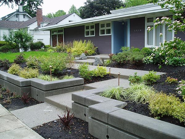 Mid Century Modern Exterior Mid Century Modern Entry After Modern Landscaping Modern Front Yard Front Yard Landscaping Design