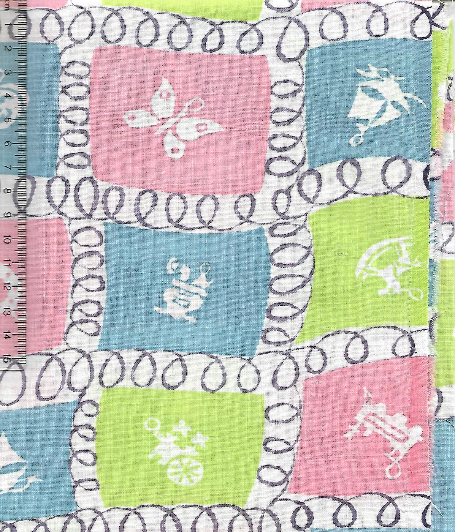 Vintage feedsack fabric- lucky charms #vintage #retro #interiors #gogreen #patchwork #sew #collect #americana