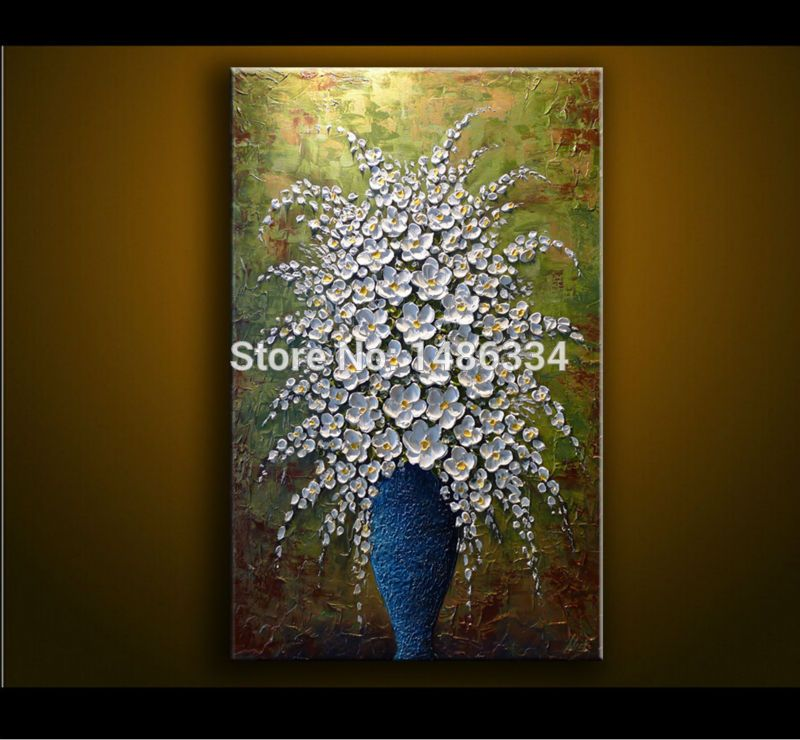 Canvas art painting acrylic thick oil 3d white flowers oil painting canvas art painting acrylic thick oil 3d white flowers oil painting modern home sitting room decor european abstract art picture mightylinksfo