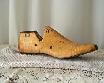 Vintage Wood Shoe Form Shoe Last Shoemaker's Form Cobbler Last ...