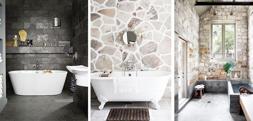 Piedra para decorar tu cuarto de baño - bao de piedra