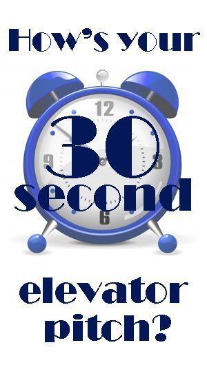 30 sec elevator pitch