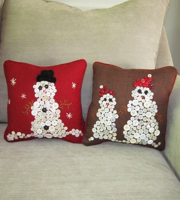 2013 DIY Christmas Pillow Brown Decor Ideas