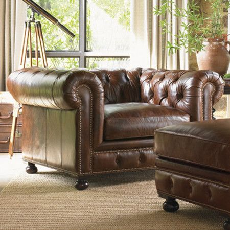 Belfort Leather Arm Chair at Joss & Main
