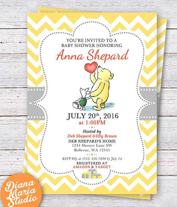 photo relating to Printable Winnie the Pooh Baby Shower Invitations known as Winnie the Pooh Boy or girl Shower Invitation - Clic Winnie the