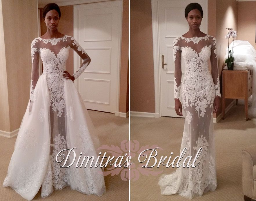Zuhair murad mia wedding gown with long sleeves and dramatic ...