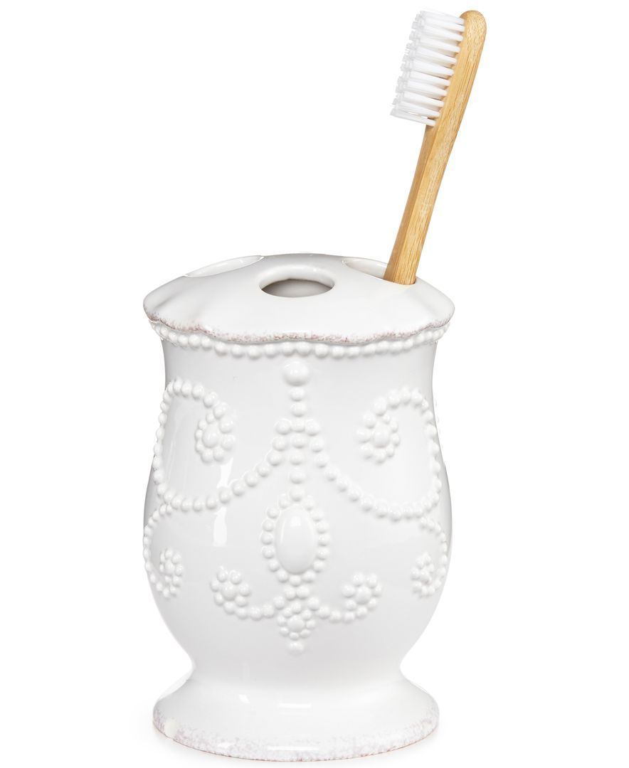 Lenox Bath Accessories, French Perle Toothbrush Holder | Toothbrush ...