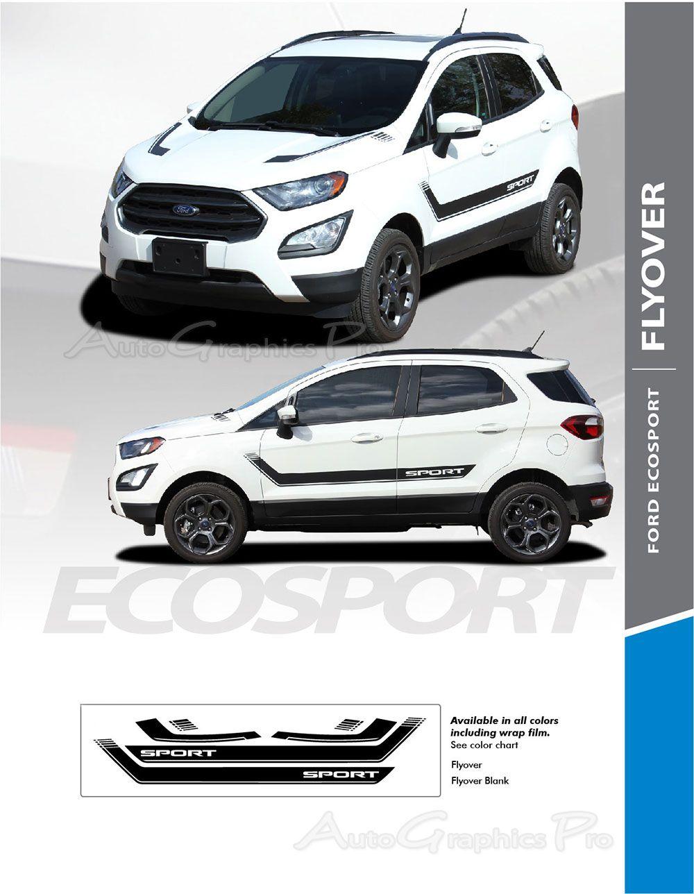 2013 2020 Ford Ecosport Flyout Side Door Decal And Hood Vinyl Stripe Graphic Kit Pegatinas Para Autos Autos Y Motos Autos