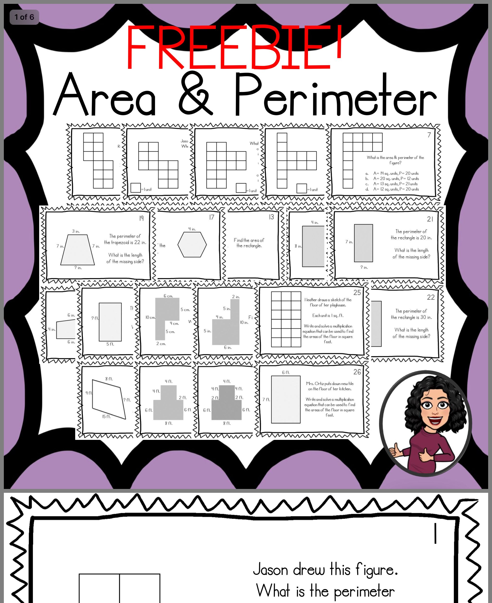 Pin By Mary Beth Shawl On Math Area Perimeter