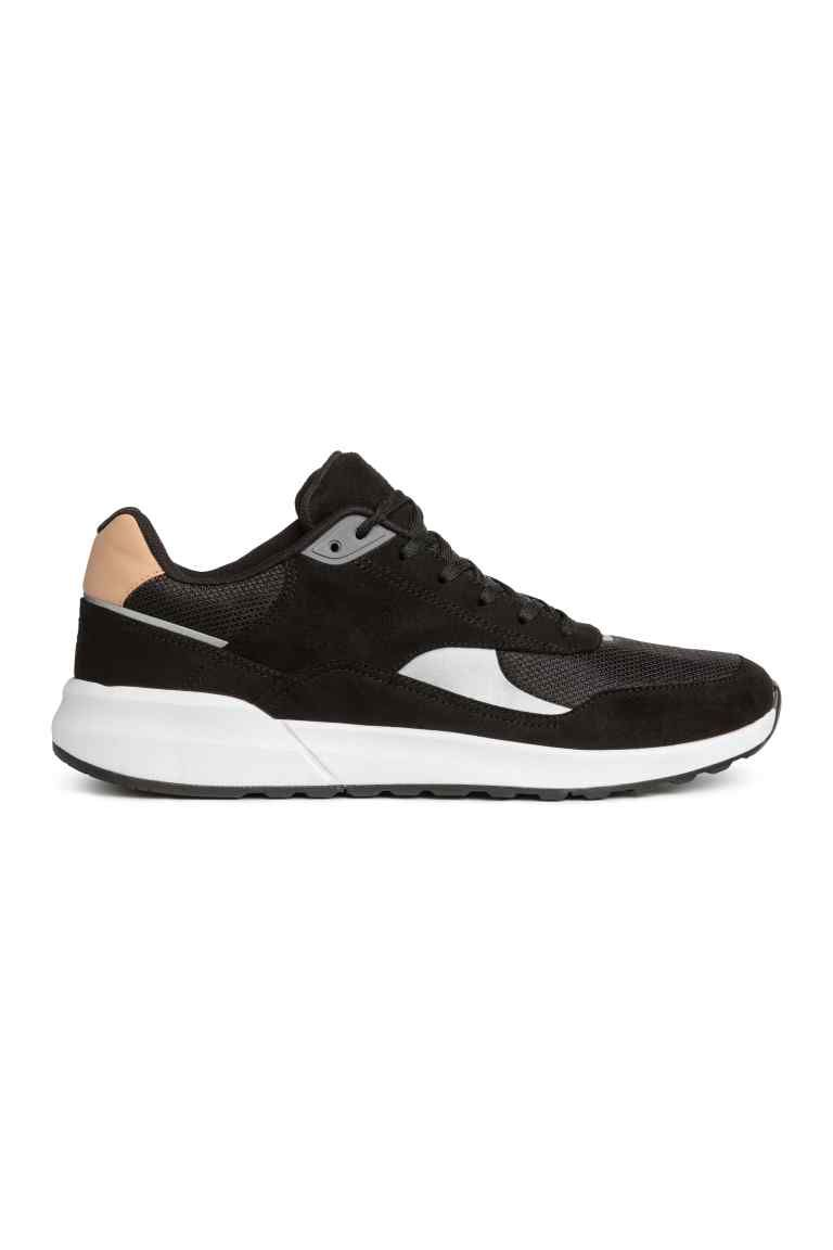 75cf73e0274 Zapatillas deportivas de malla - Negro - HOMBRE