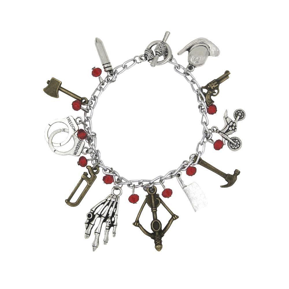 Amazon.com : Walking Dead TV Series (11 Charms) Silvertone Charm Bracelet : Everything Else