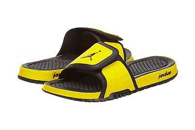 648e2c5b032abd NIKE JORDAN HYDRO 2 MENS 312527-032 Black Yellow Sandals Slides Slippers  Size 13
