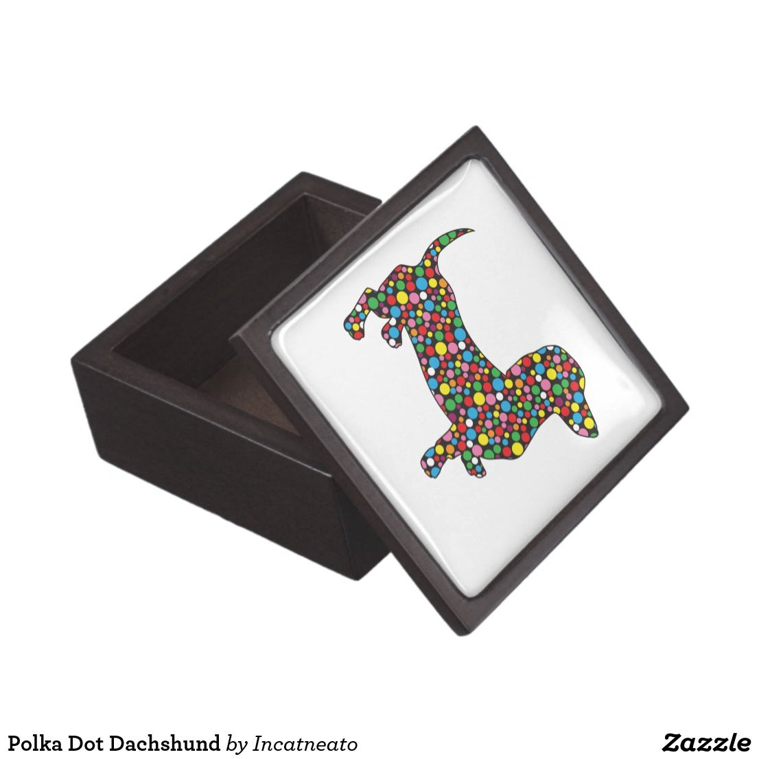 Polka Dot Dachshund Jewelry Box Roseanns fun stuff to buy