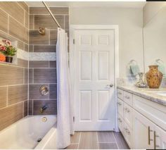 From HGTVs Flip Or Flop Love The Large Tile In Shower
