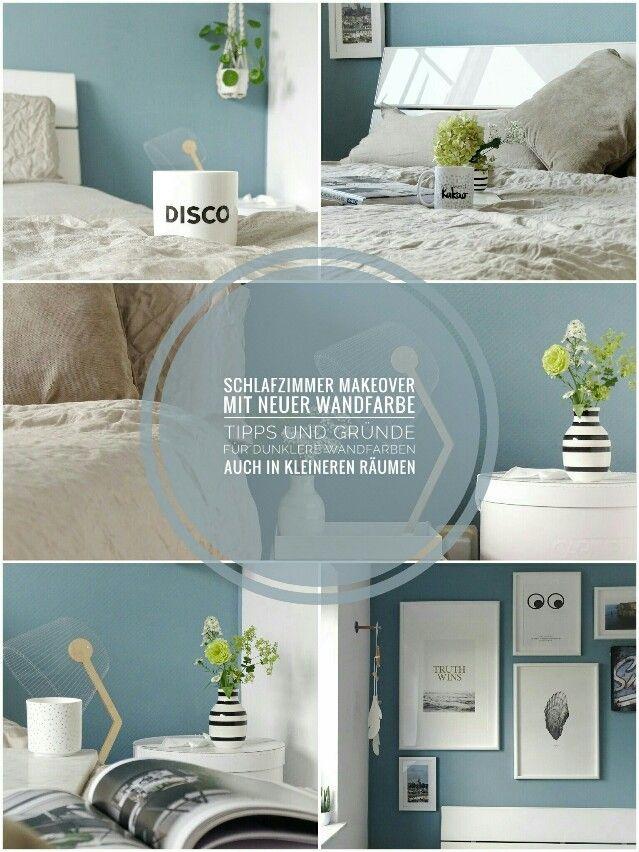 Schlafzimmer-Makeover mit neuer Wandfarbe