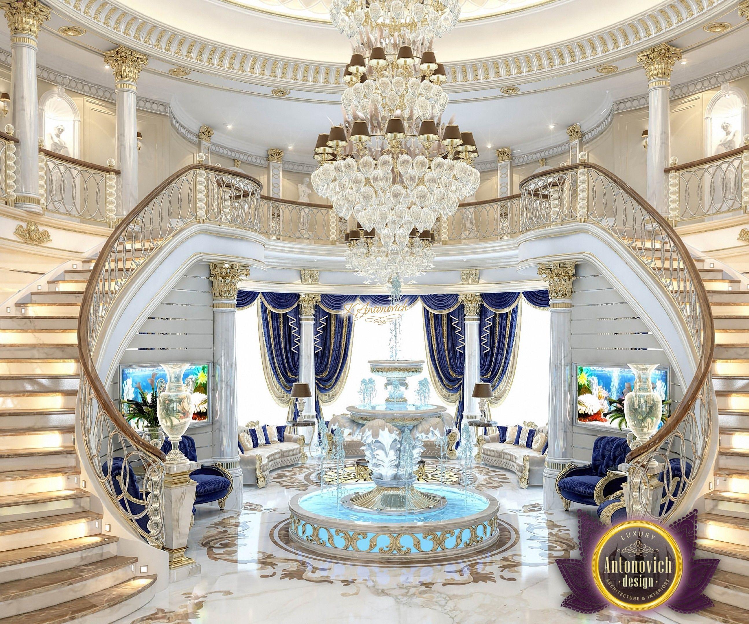 Royal Living Room Interior | FOUNTAIN | Pinterest | Living room ...
