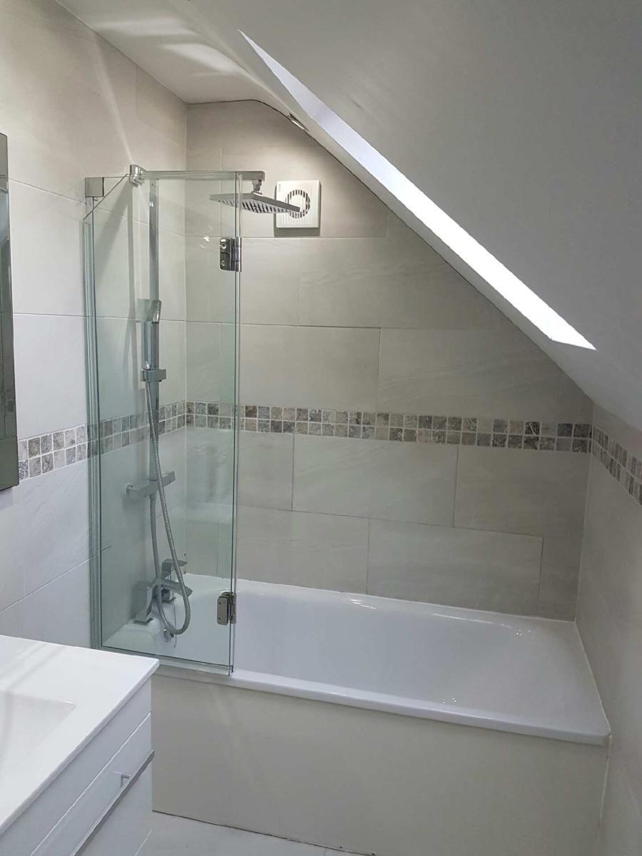 Fold Away Shower Screen Over Bath Folding Curtain White Brushed Chrome Shower Screen Retro Shower Curtain Shower Curtain