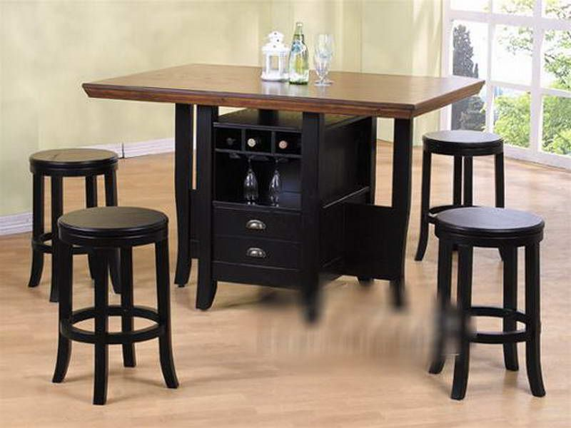 Counter Height Kitchen Tables with Storage With the Wine   Food ...