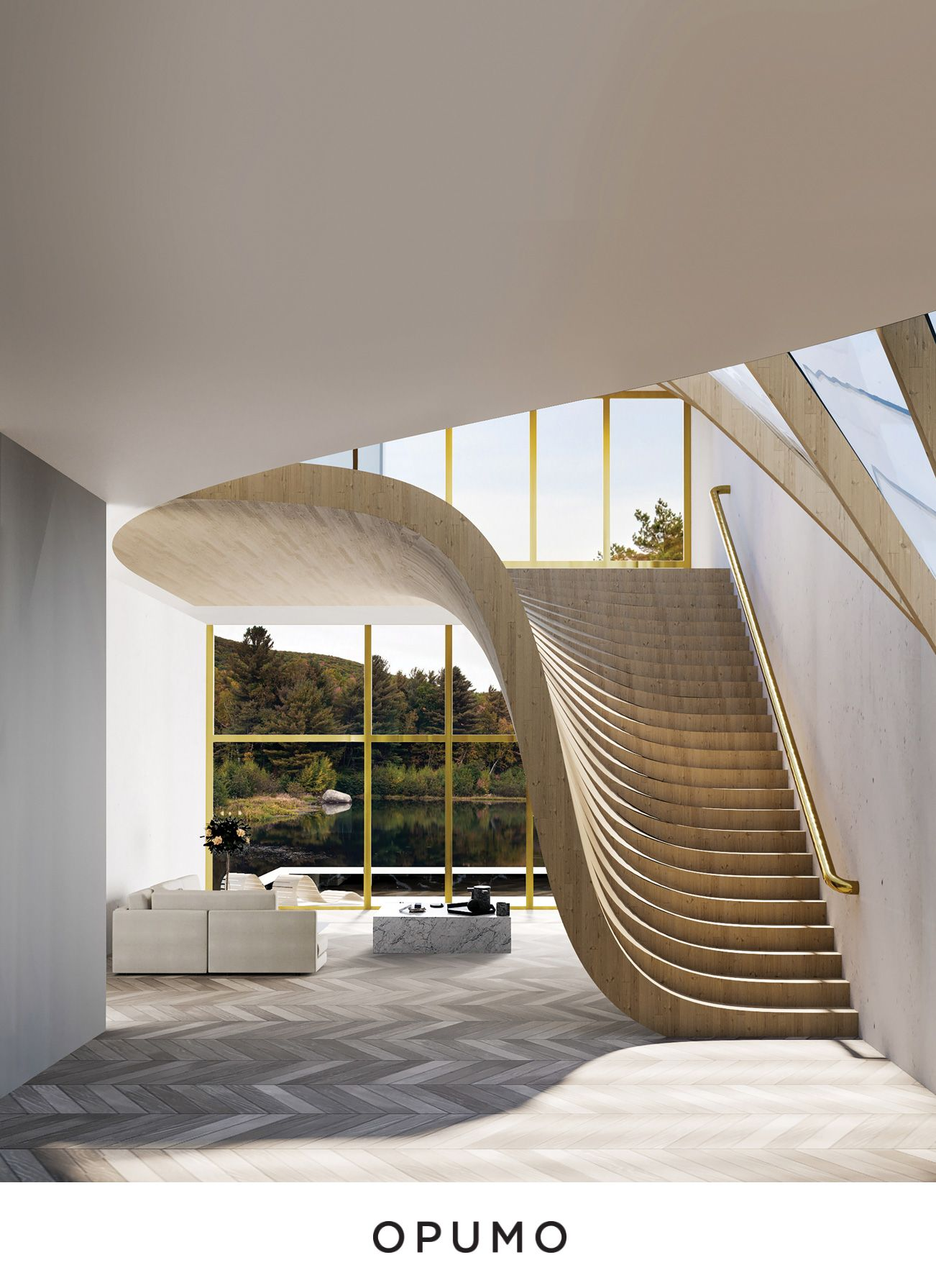 Project name: Lake House   Location: Lake Türlersee, Switzerland   Architect: Wafai Architecture Located on Lake Türlersee in Switzerland, Wafai Architecture's Lake House is designed as a holiday home for a small family consisting of a couple expecting a baby. Unfortunately the project could never be carried out as the client encountered difficulties acquiring the land.
