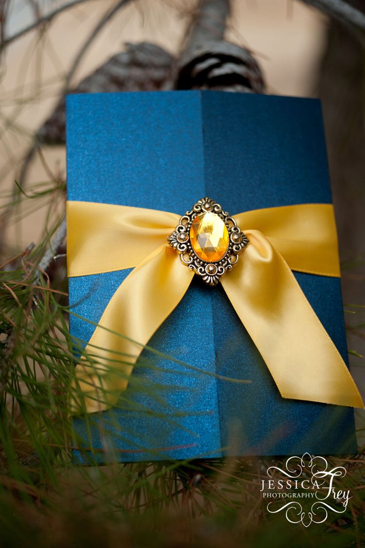 Beauty and the Beast themed wedding invitation from Matinae Design