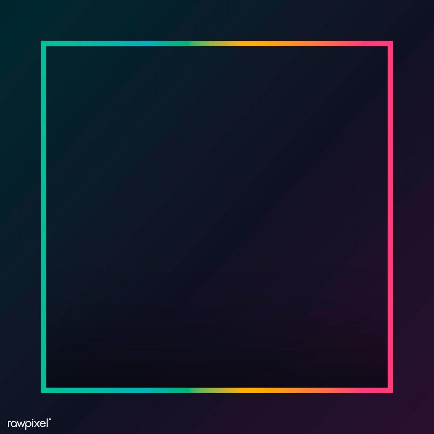Download premium vector of Gradient border black