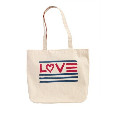 729c4c3bb EV1 from Ellen DeGeneres Canvas Love Market Tote, Women's, White in ...