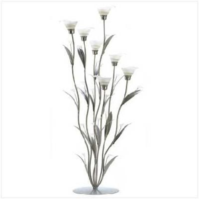 Silver Calla Lily Candle holder Free Shipping!