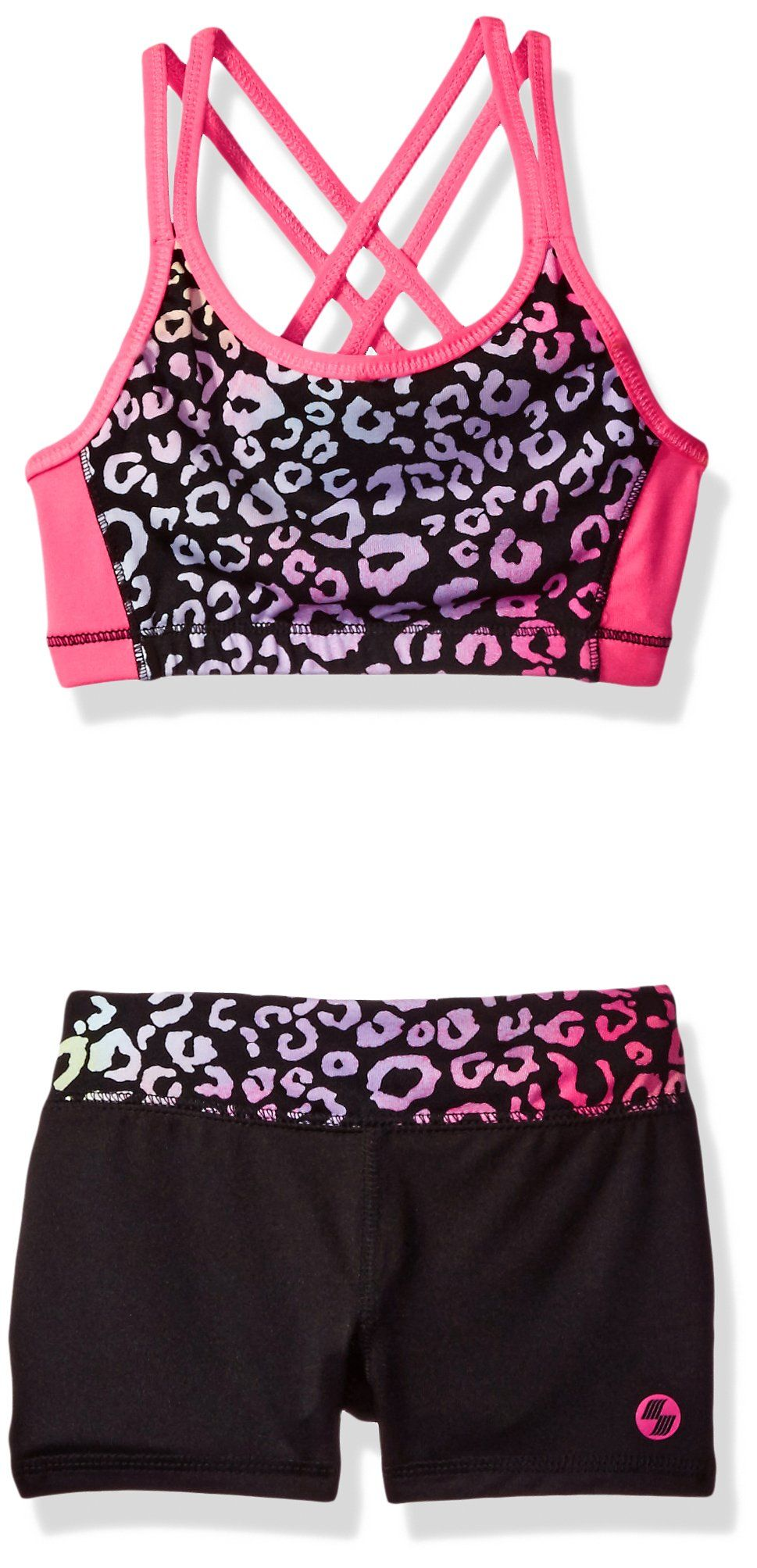 8b8ce2e42c The Children s Place Little Girls  Sports Bra   Yoga Shorts Set ...