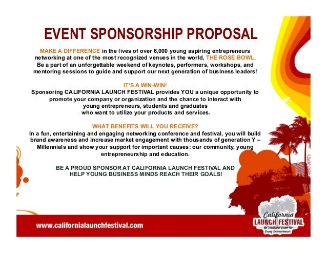 Marketing Proposal Template Sponsorship Proposal Proposal