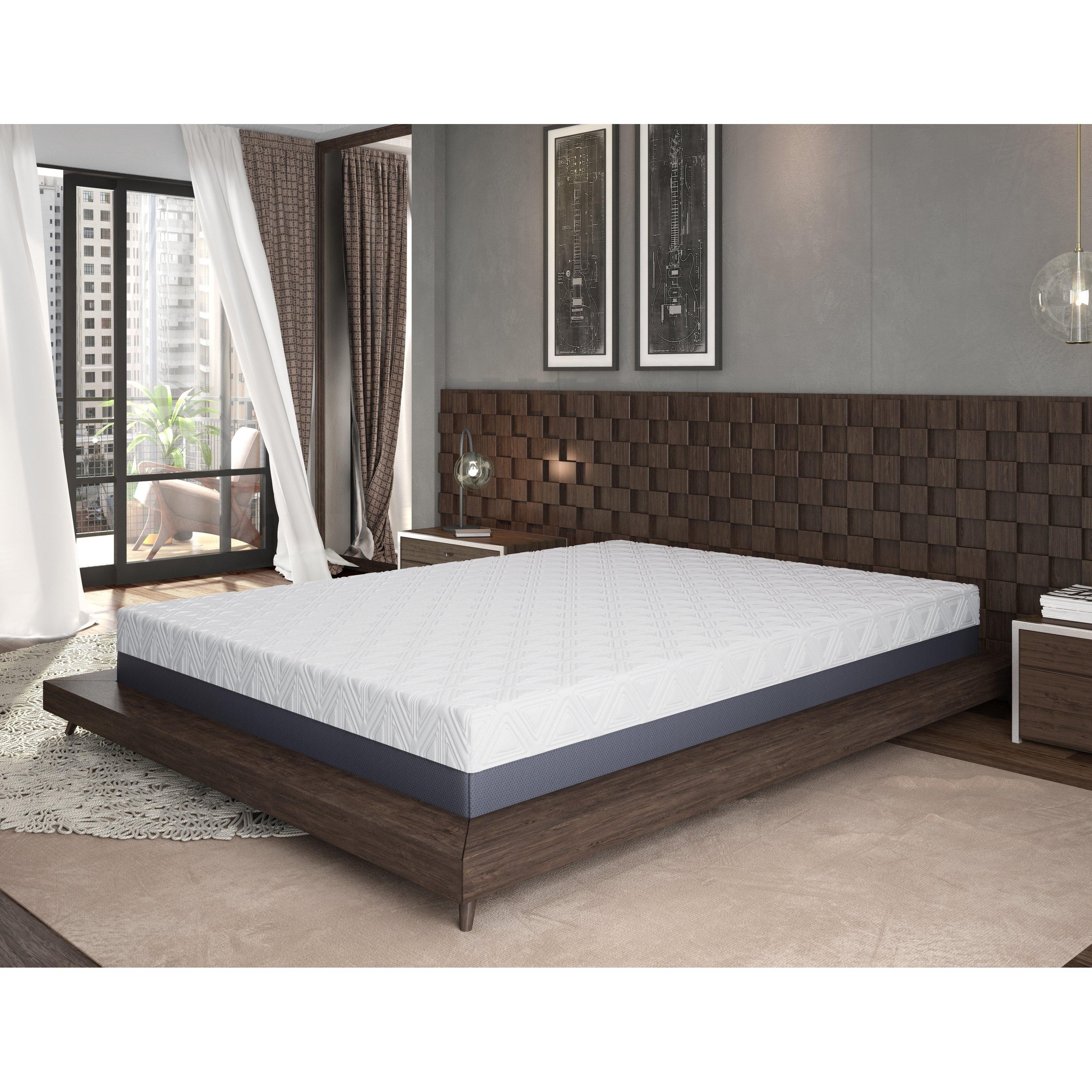 Omne Sleep 10 Inch Queen Size Gel Memory Foam Mattress Black Mattress Foam Mattress Queen Memory Foam Mattress