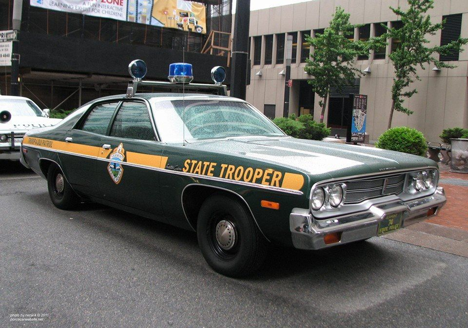 Vermont State Police Plymouth