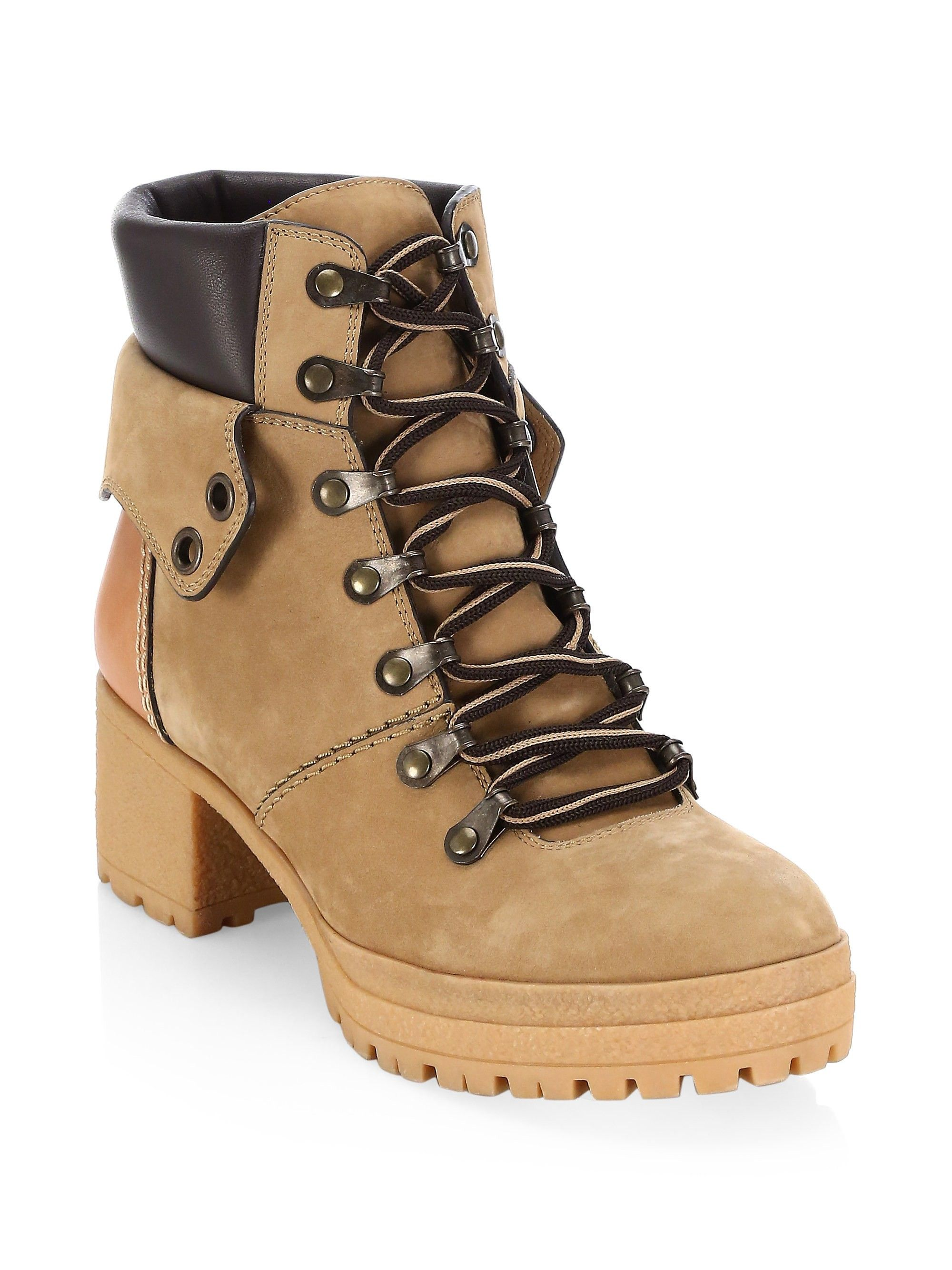 06ddd51dbf7 See By Chloé Eileen Platform Construction Boots - Tan 35 (5) in 2019 ...