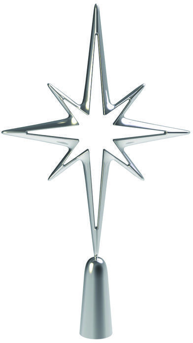 Simple contemporary style tree topper, Deck the Halls Tree Topper