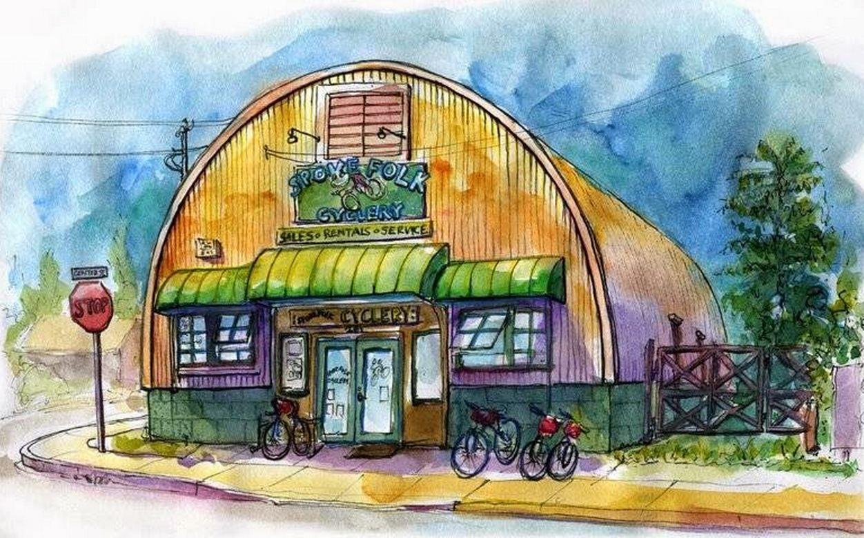 You can find Spoke Folk Cyclery on Facebook - https://www.facebook.com/Spoke-Folk-Cyclery-131862143504305/photos