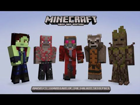 Minecraft XBOX GUARDIANS OF THE GALAXY SKIN PACK - Skins gratis minecraft xbox 360