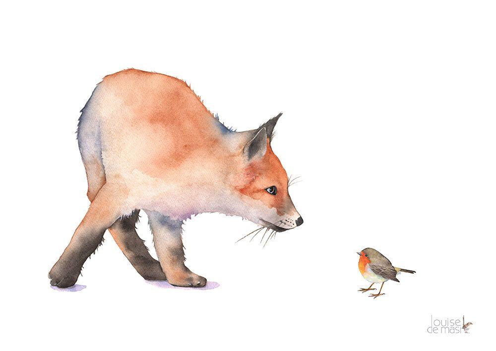 Dessin De Renard De Peinture Aquarelle F7916 Fox Peinture