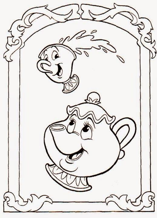 pintar princesas gratis   Disney\'s Beauty And The Beast Coloring ...
