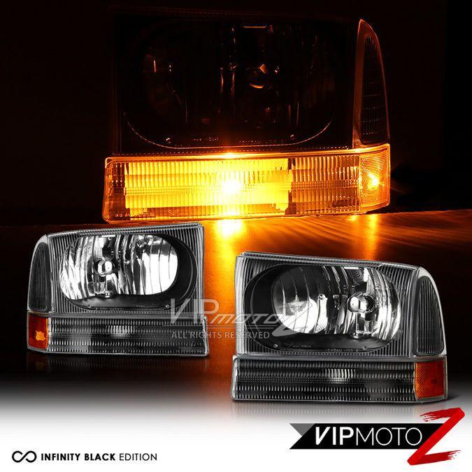 Details About Black Clear 99 04 Ford F250 F350 F450 Superduty Headlight Bumper Corner Lamp Ford F250 Corner Lamp F250