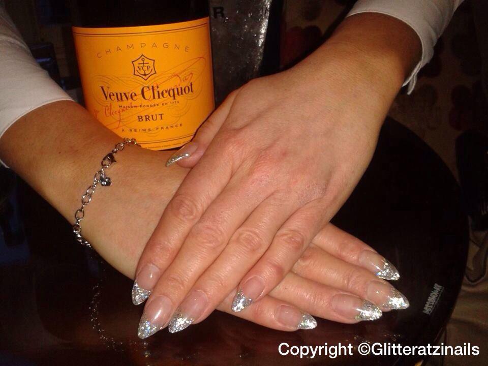 Platinum glitter tips infills | Glitteratzi nails acrylics & gelish ...