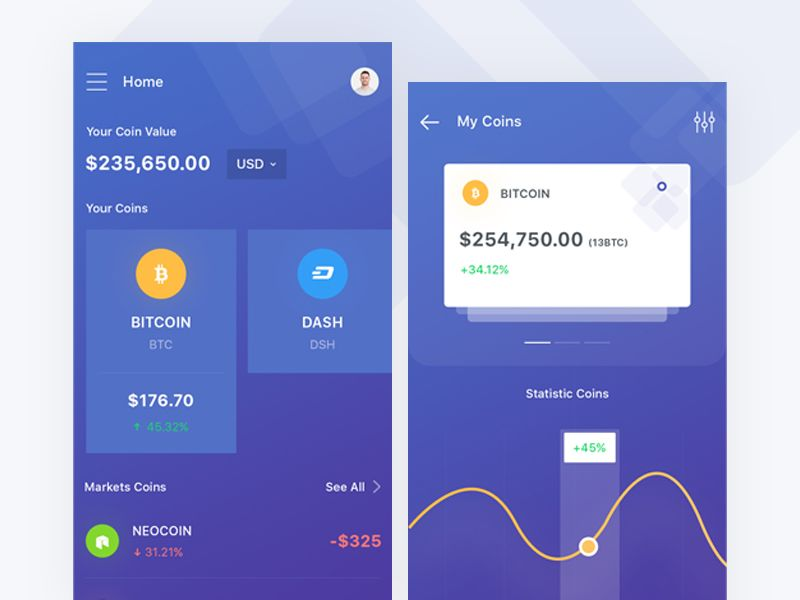 Crypto Wallet Apps Dribbble App Ui Design App Ui