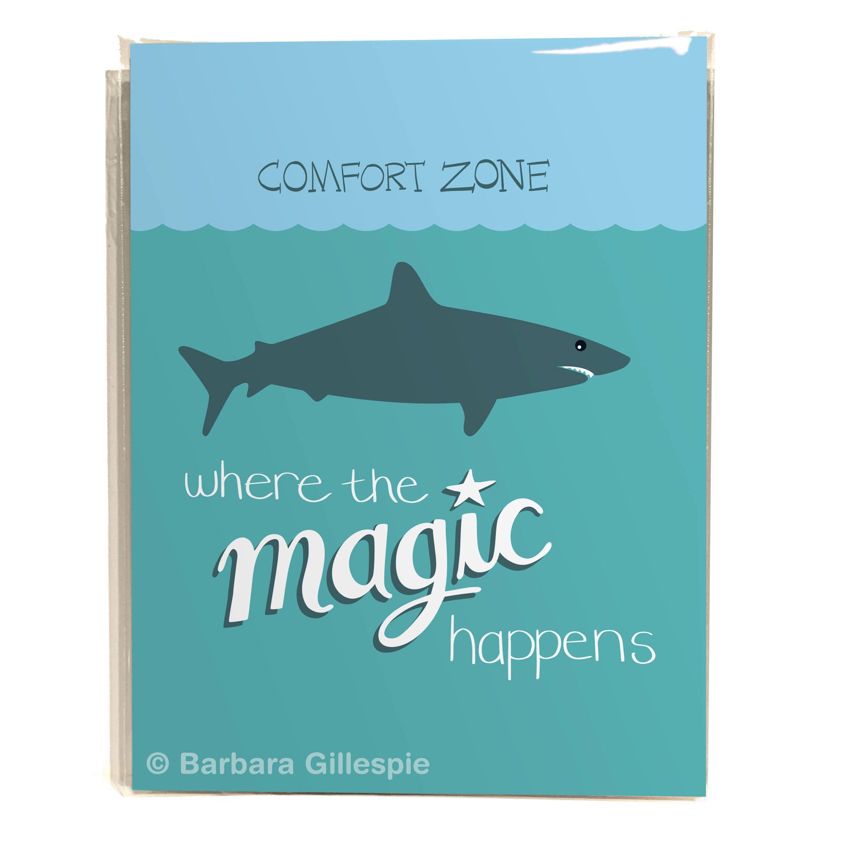 Shark 8x10 Art Print / Leave your Comfort Zone / Go where