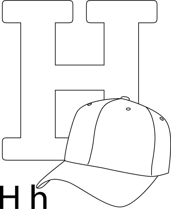 H Is For Hat Coloring Pages