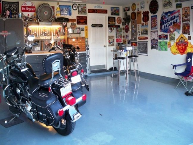 Motorcycle Man Cave Ideas : Man cave decorating ideas motorcycle