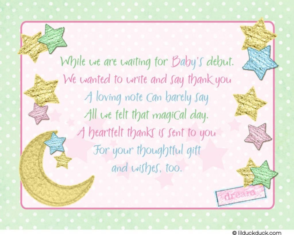 Baby Shower Thank You Cards For Your Guest