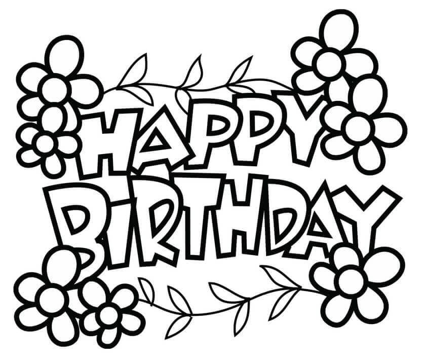 Happy Birthday Coloring Pages | Happy birthday coloring ...